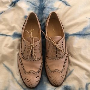 Kate Spade Pink leather oxfords size 10